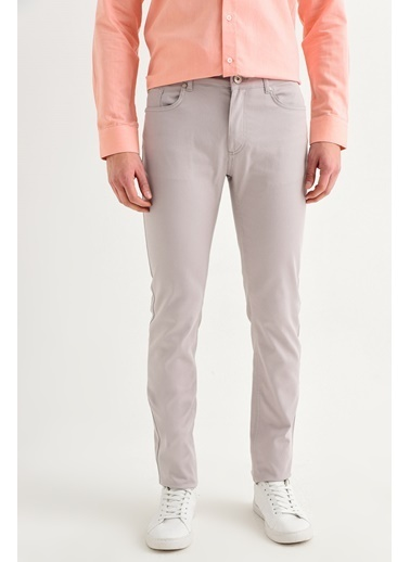 Avva Erkek  5 Cepli Basic Slim Fit Pantolon A01Y3041 Taş